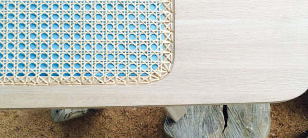 The Bench banc avec osier par Tim Defleur et Oza Design