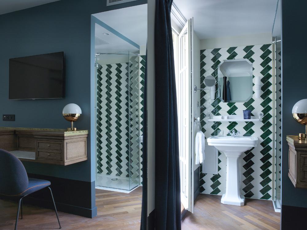 Vue salle de bain - Hôtel Bachaumont