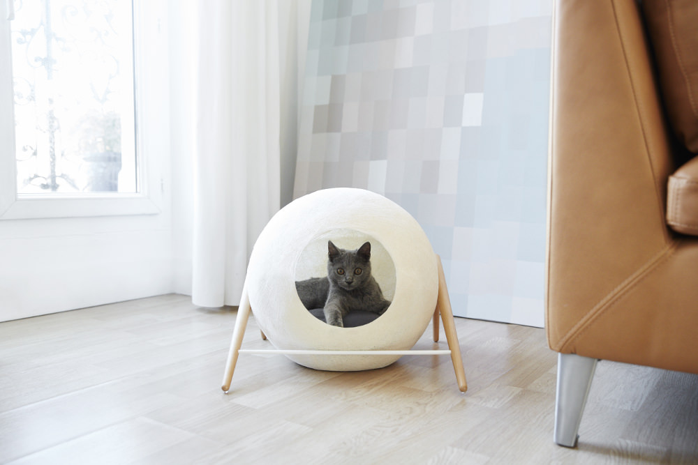 Crowdfunding mobilier ball pour chat par meyou paris
