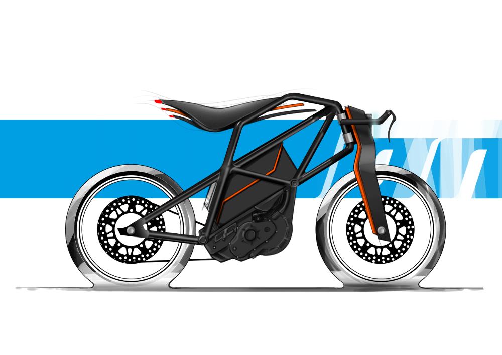 PROJET ÉTUDIANT : KTM ION 2 roues futuriste par Daniel Brunsteiner