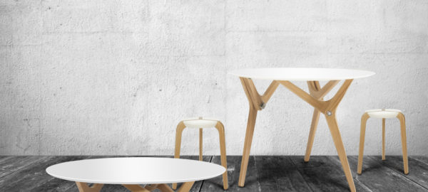 Table modulable Archimède par Boulon Blanc