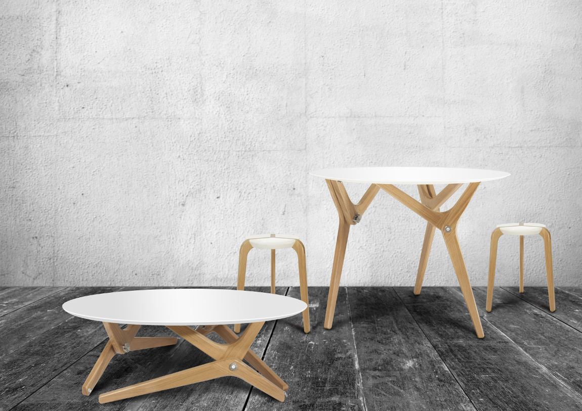 Table design Archimède par Boulon Blanc
