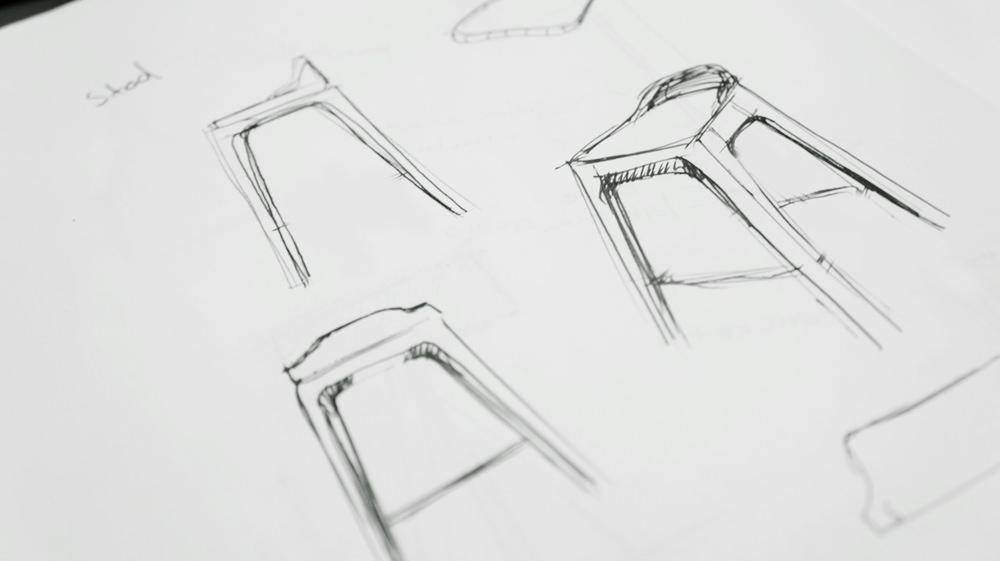 Tabouret haut design bar Aron par Luis Luna