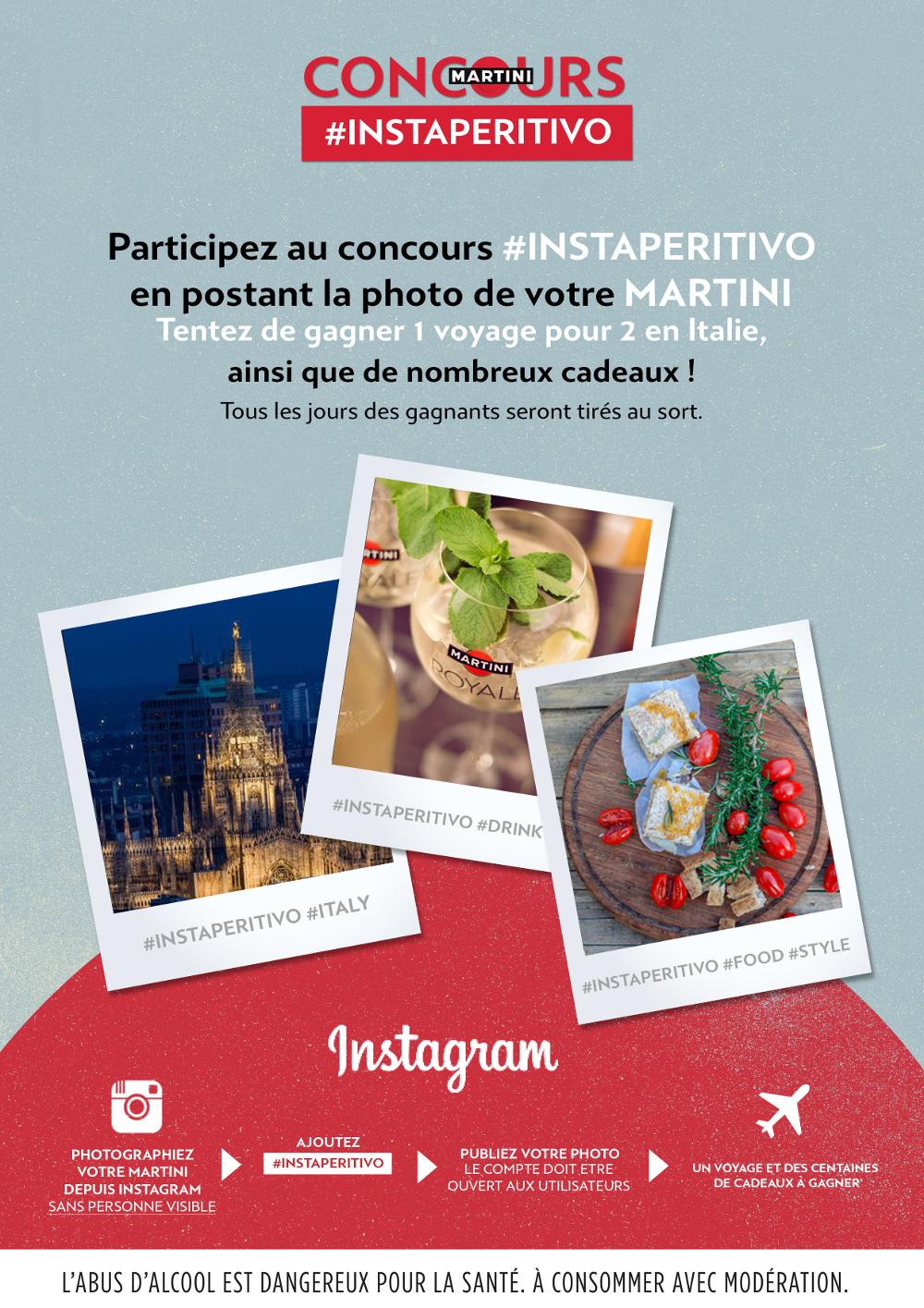 Martini relance son concours #Instaperitivo