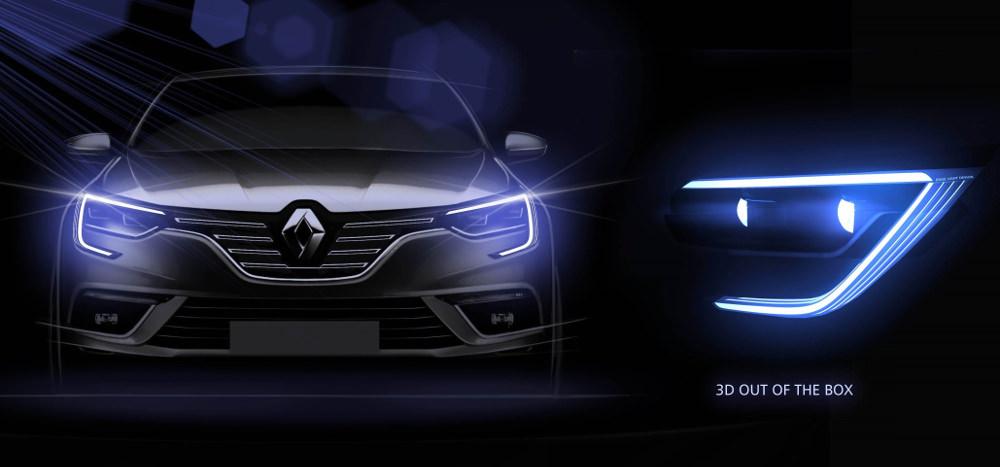 Renault MEGANE 4 plus qu'une voiture - Cshape Renault signature lumineuse