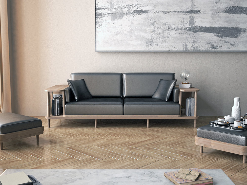 scaffold sofa par andr teoman studio pour wewood. Black Bedroom Furniture Sets. Home Design Ideas