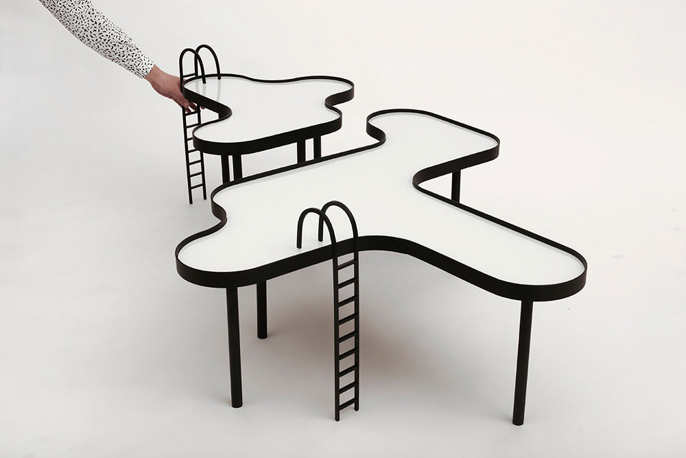 Swimming Pool design table par Estúdio Rain