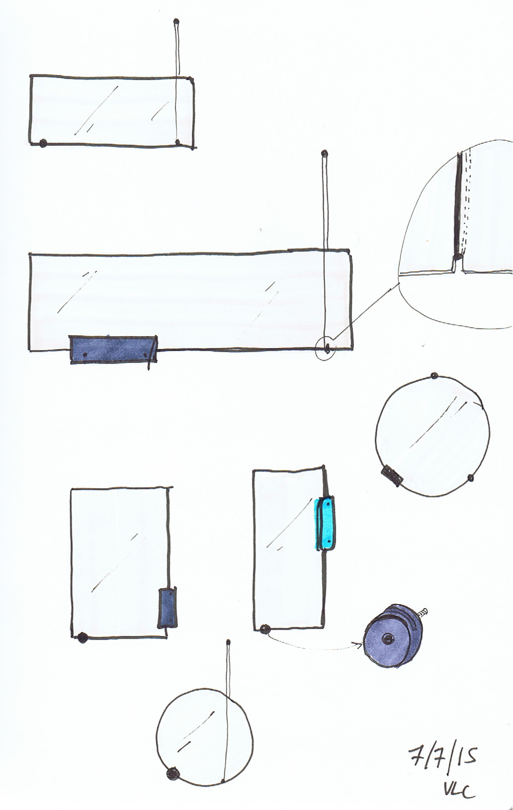Sketches - BALANCE collection de miroirs par Kutarq
