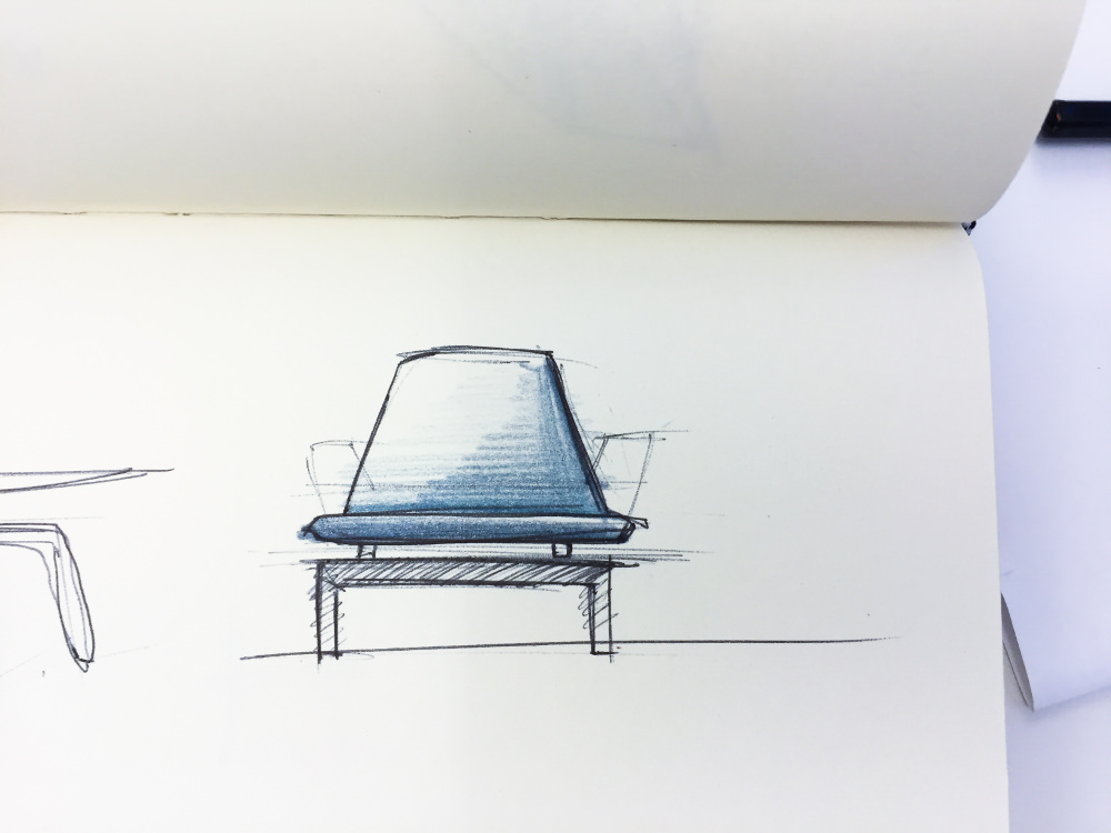 Sketch - Chaise Albue building for the body par Petter Mustvedt et Sigurd Kalvik
