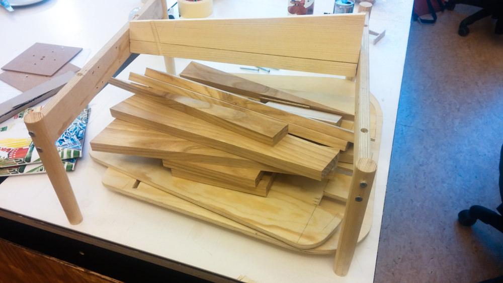 Sketch - Chaise Albue building for the body par Petter Mustvedt et Sigurd Kalvik