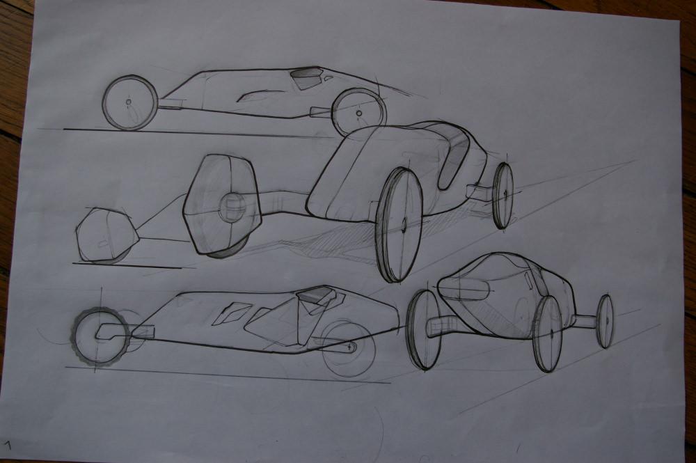 Sketch voiture bois - Orovof jouets en bois par Pierre Meriadec