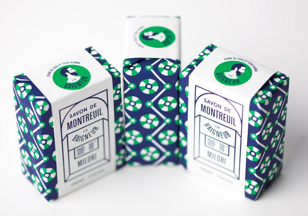 Packaging : Savons bios par Le Baigneur