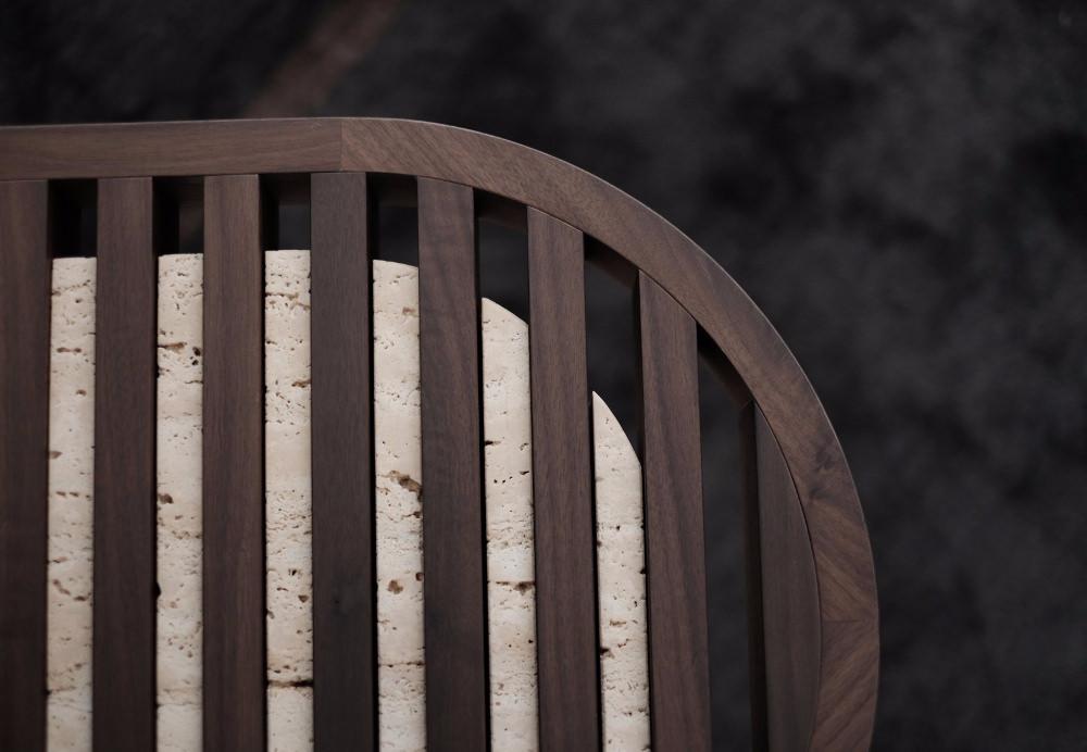 TRACKS banc et tabourets par Dan Yeffet