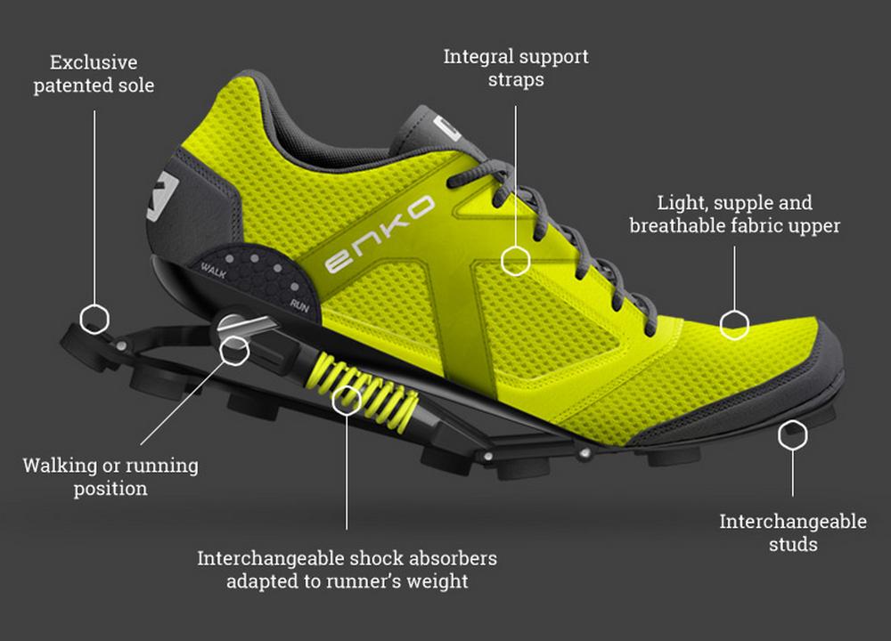 Running Enko Amortisseurs Chaussure Avec Shoes dxoeBC