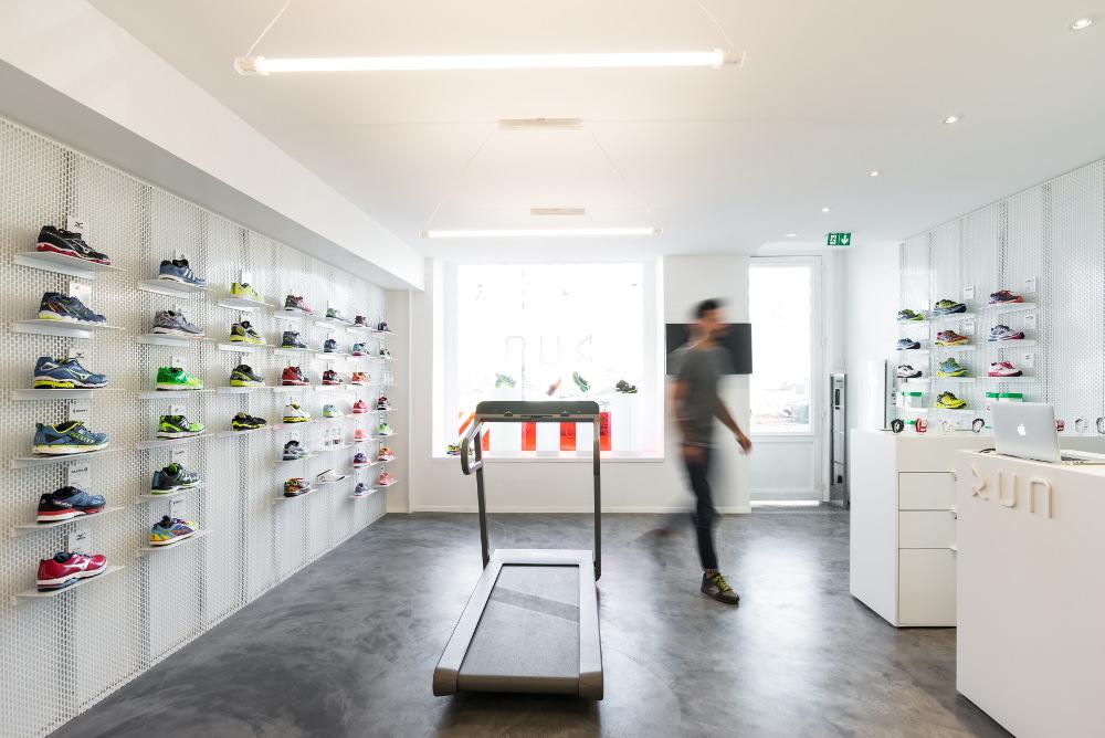 Boutique RUNSTORE Bordeaux par le studio Hekla