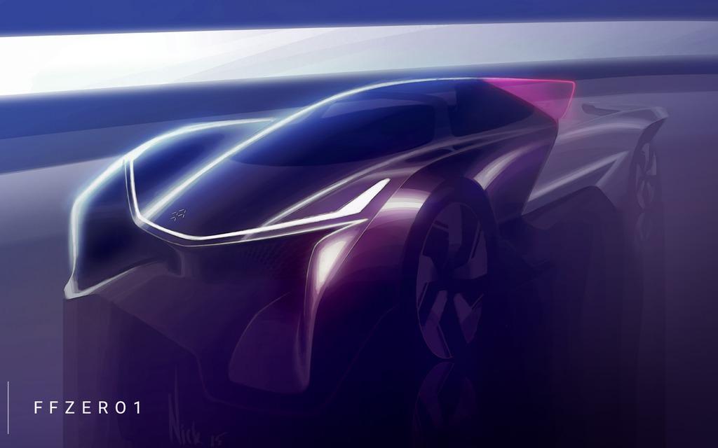 faraday future ffzero1 concept car futuriste design. Black Bedroom Furniture Sets. Home Design Ideas