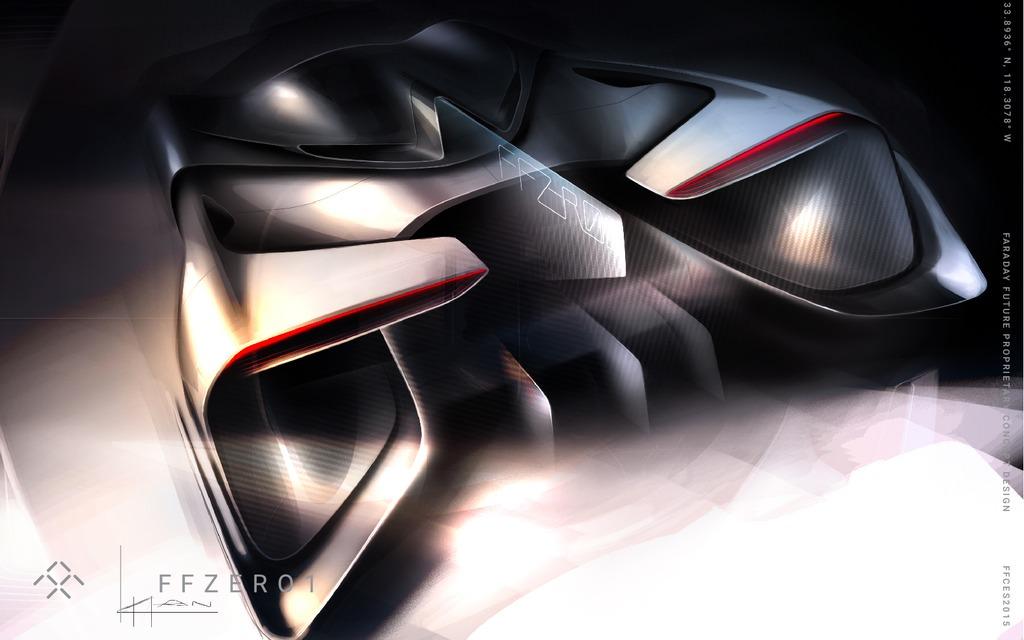 Sketches - Faraday Future FFZERO1 concept car futuriste