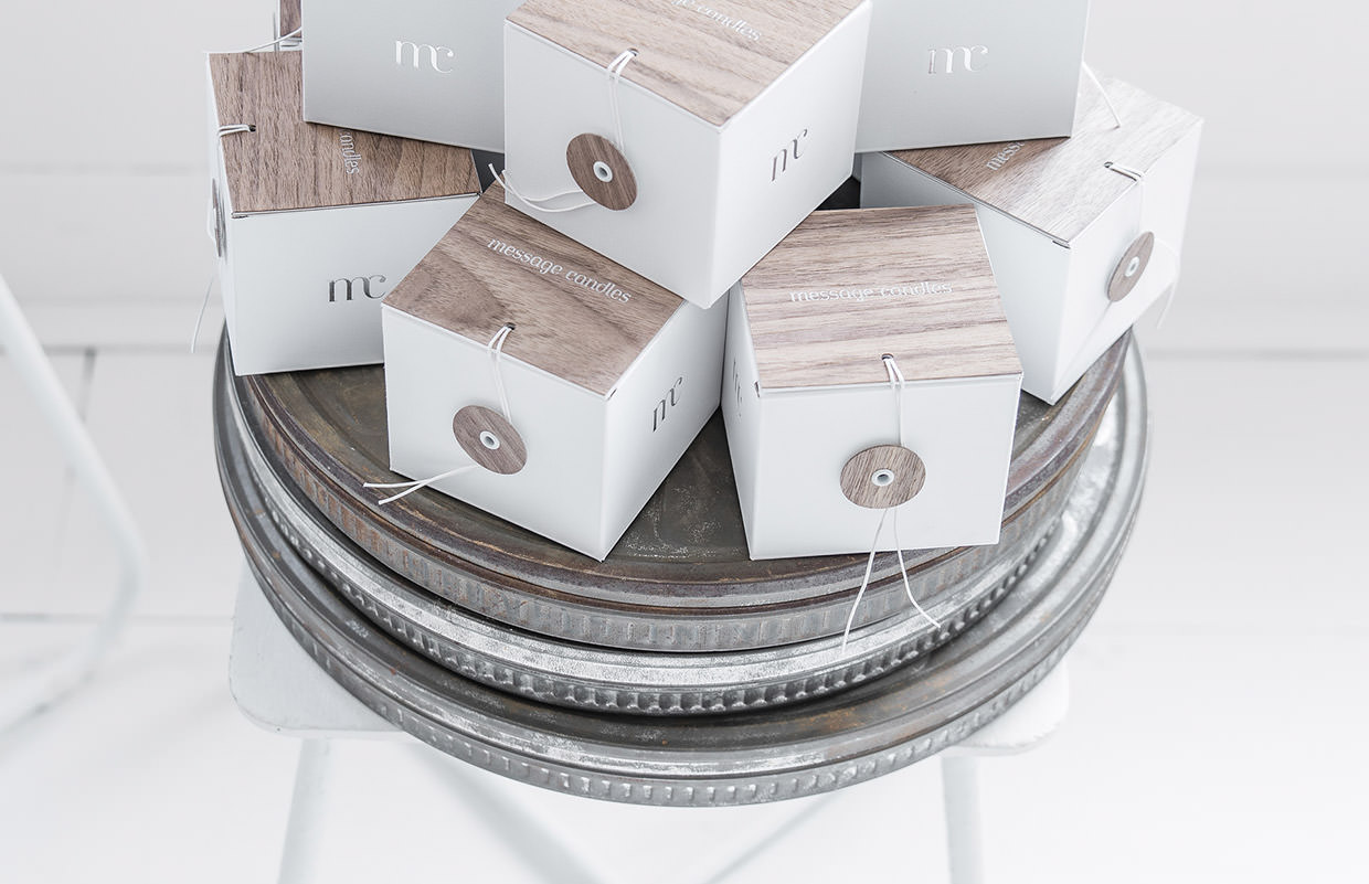 Packaging : Message Candles bougies par For Brands