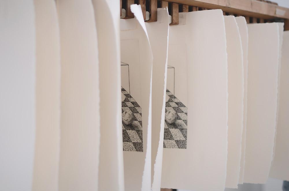 Sybille's bath gravure eau-forte par Ugo Gattoni