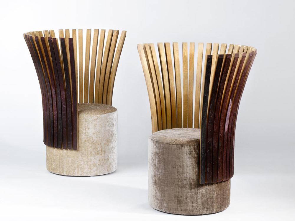 Wine & Design Collection Fauteuil par Enzo Pascual - Le fauteuil Saint-Emillion