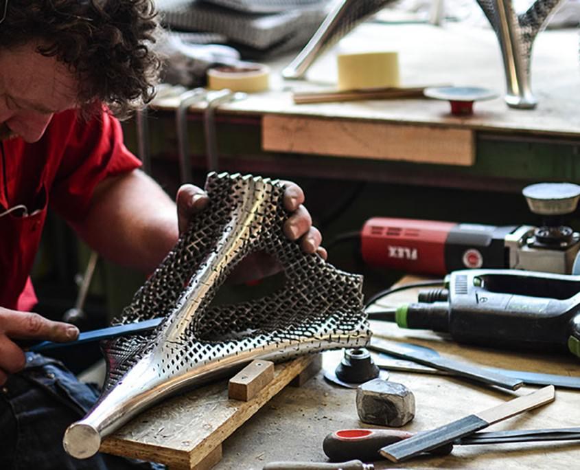 Aluminum Gradient Chair par Joris Laarman