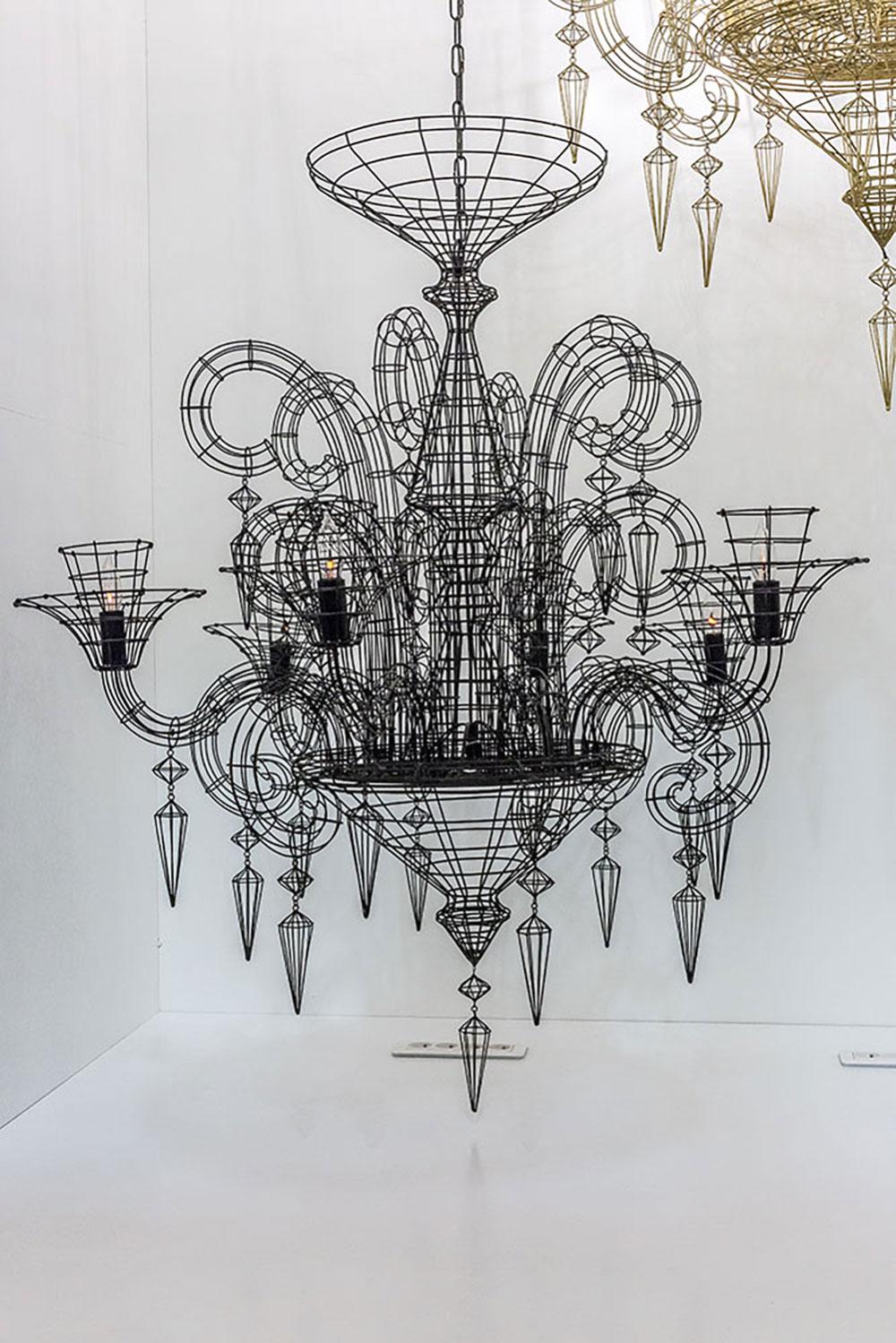 Chandelier Angelus Black pendant lamp par Forestier