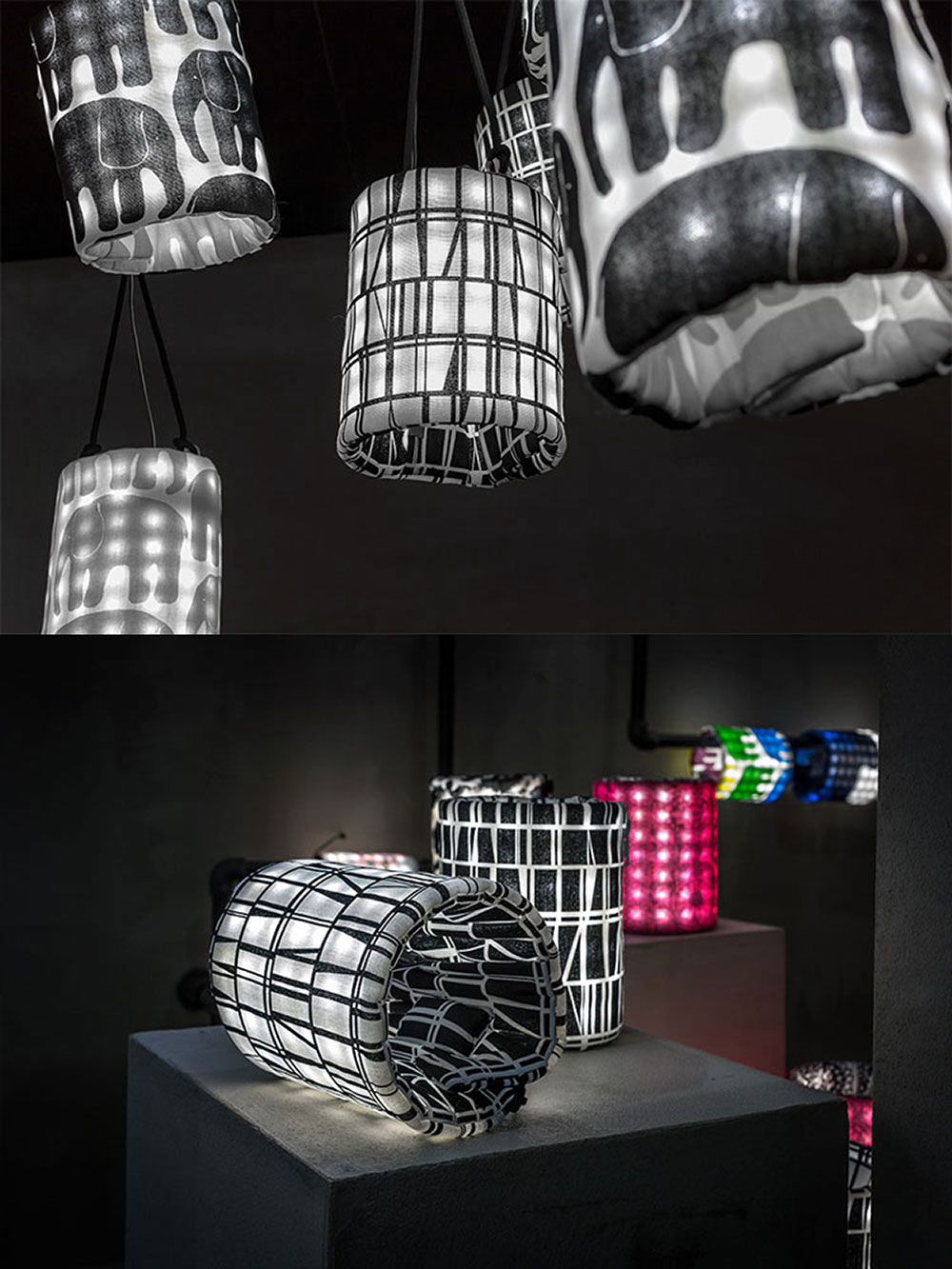 Preview de la nouvelle collection de lampes en tissus par Finlayson