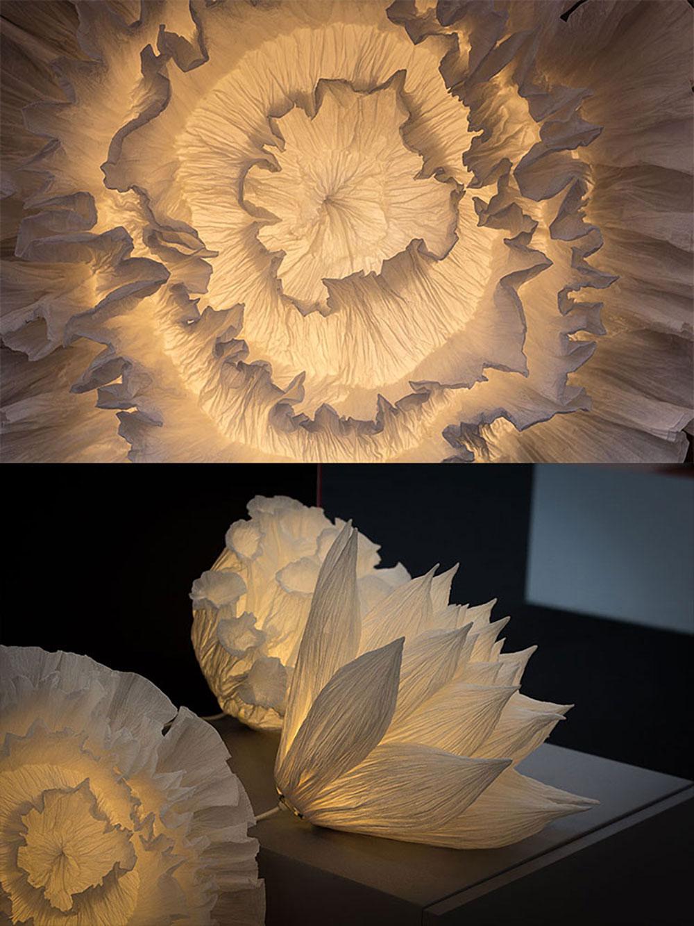 Sculptures lumineuses par Junior Fritz Jacquet pour Oznoon