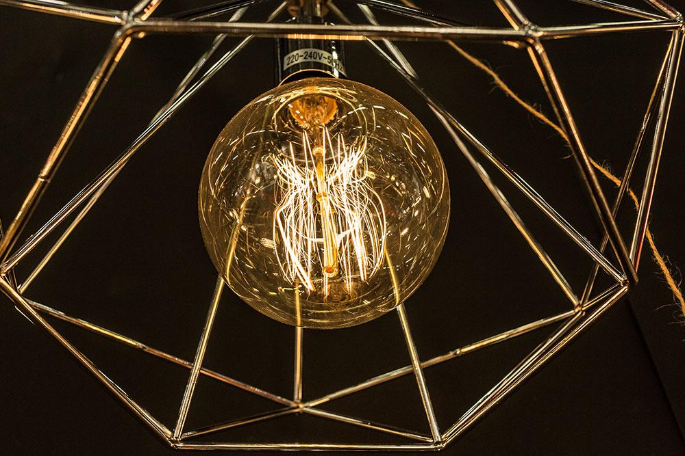 Suspension cage en métal couleur laiton Terence par Opjet