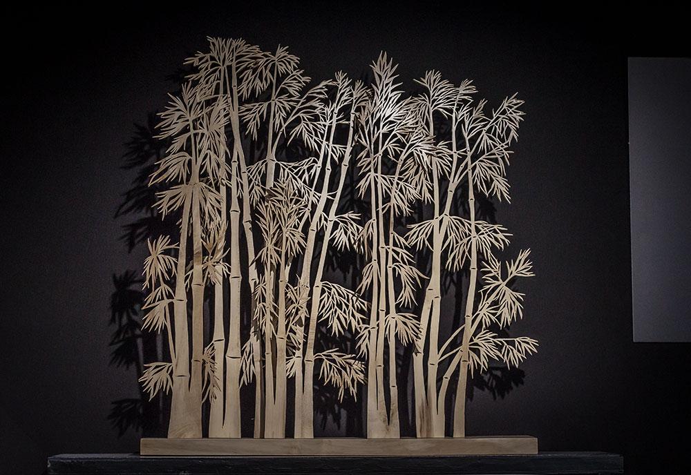 """Sculpture en houx """"Forêt de Bambous"""" par Claire et Pierre David Abt-Mahey - Silène"""