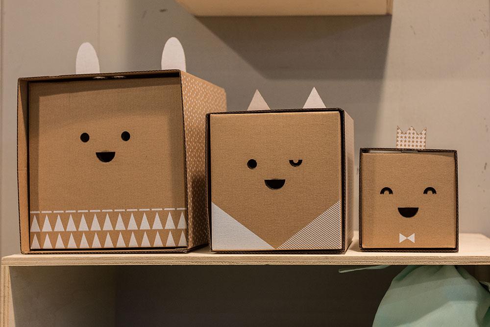 Boites de rangement en cartons par Flatout Frankie