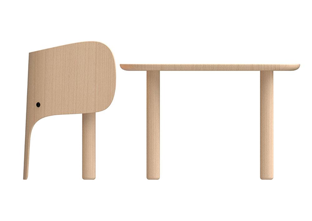 Chaise et table Eléphant par Marc Venot