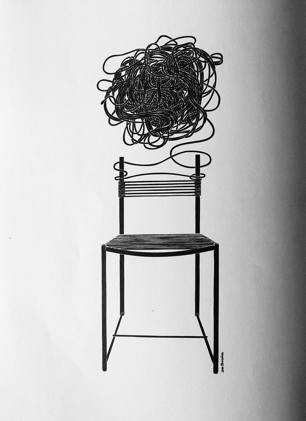 Spaghetti Chair © Alias