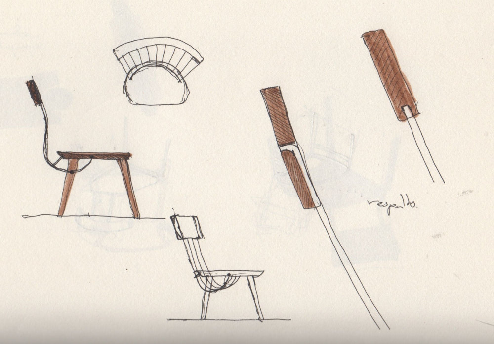 Sketches - WW chair nouvelle chaise Windsor par le studio Hierve