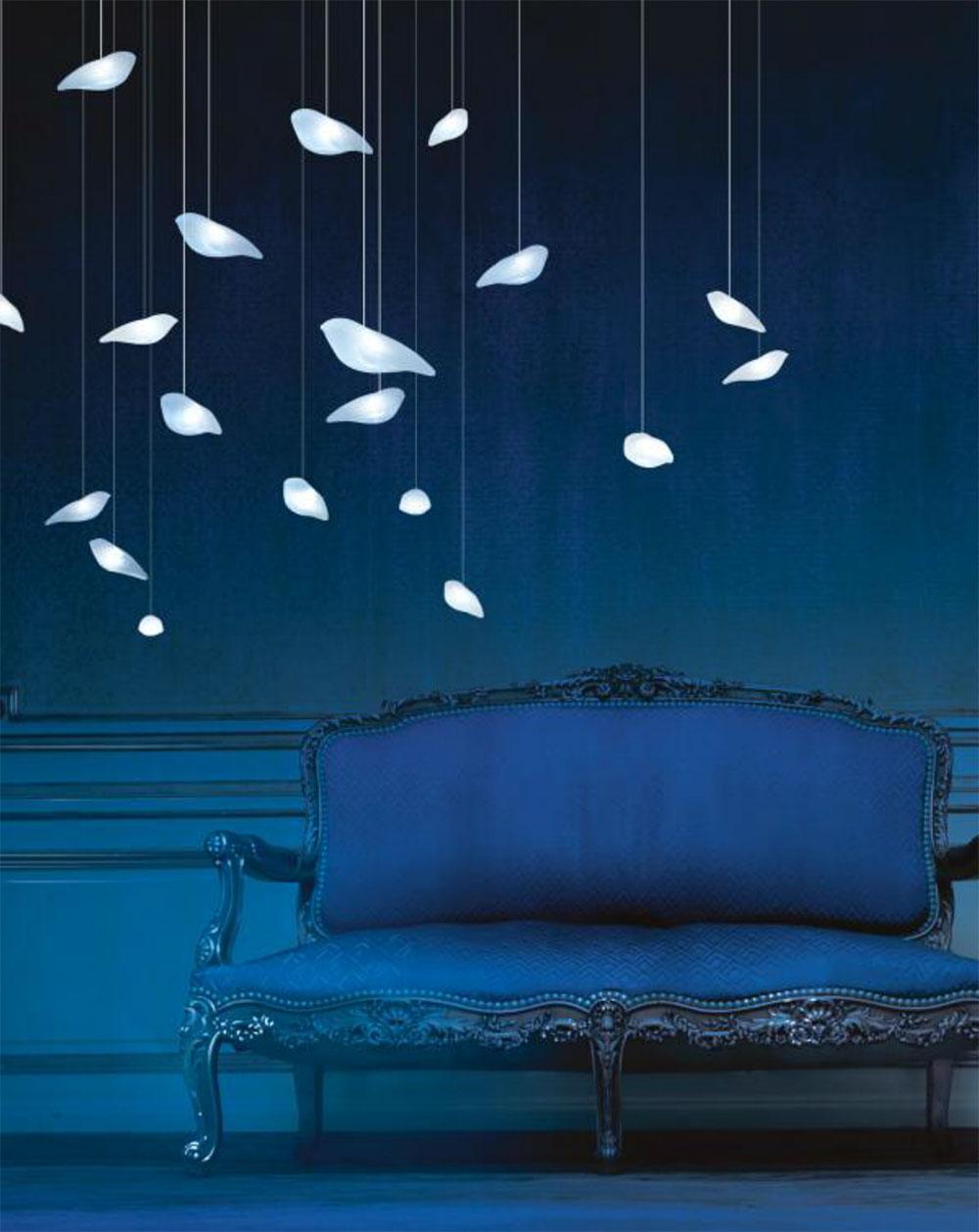 Oiseaux de Lune, LED banc pur 4600°K et blanc chaud 3300°K rose, puissance lumineuse 60 lumens - 7V © Beau & Bien