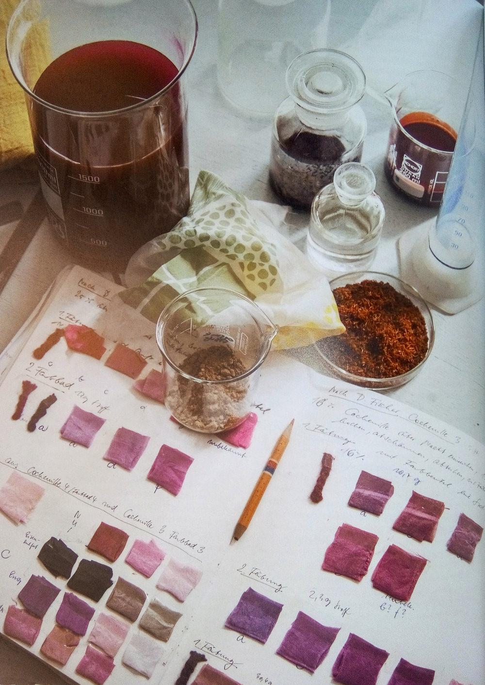 Susan Stern, Values 2.0, teintures naturelles, carnet d'échantillonnage © Susan Stern