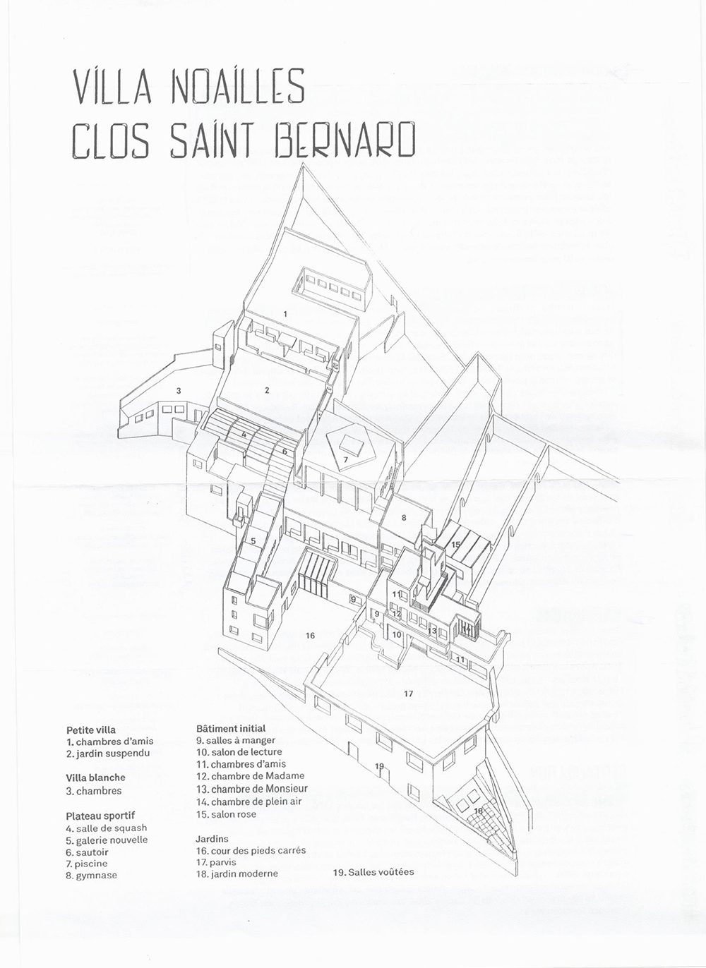 12 - Villa Noailles - plans