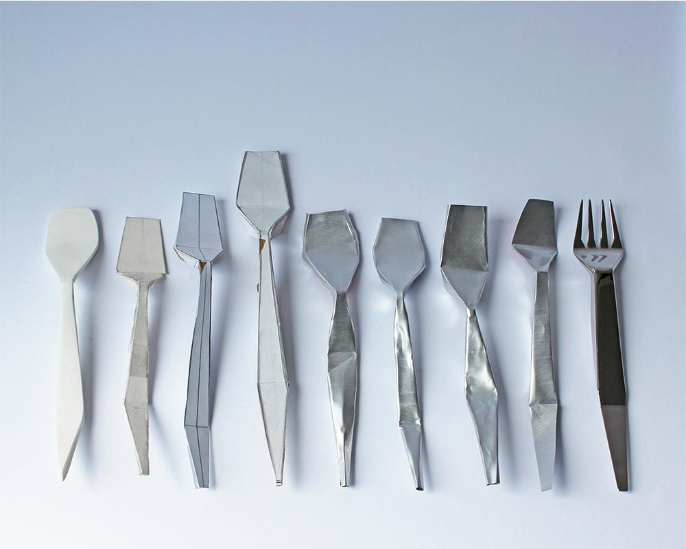 paper cutlery les couverts d 39 agneszka krzyzanowska blog esprit design. Black Bedroom Furniture Sets. Home Design Ideas