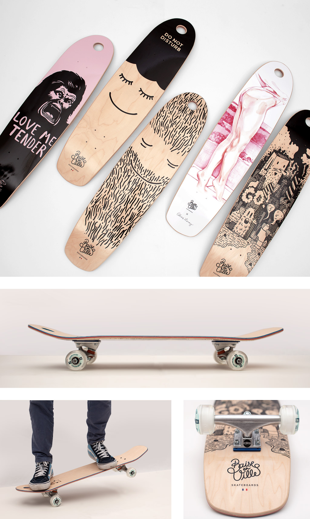 Baise en ville skateboards par Laurent Pierre