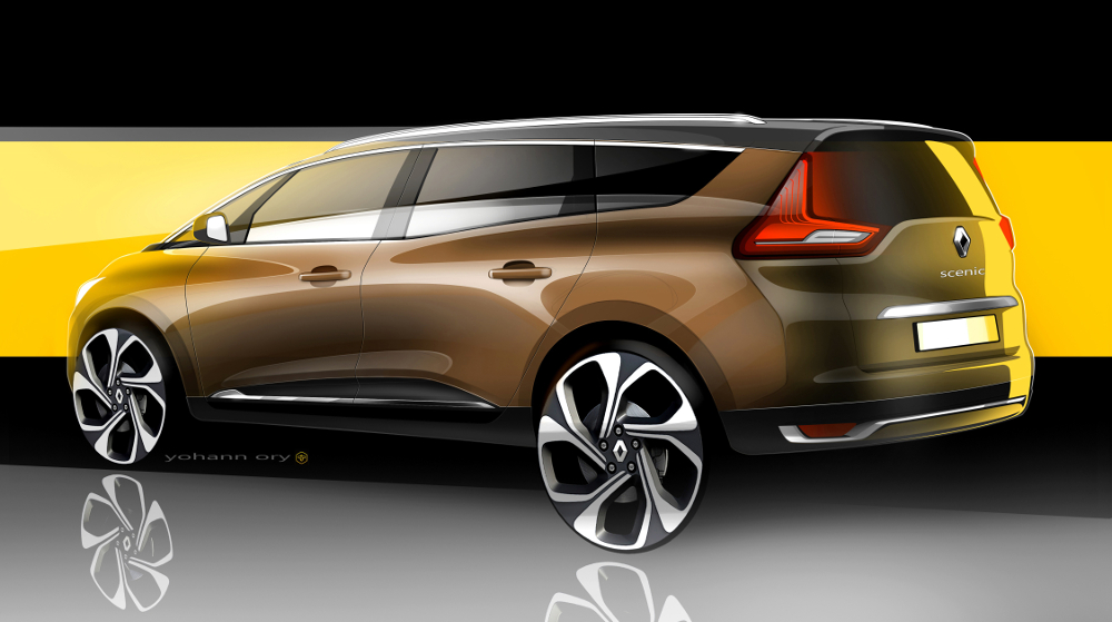 nouveau renault scenic l hybridation d un monospace blog esprit design. Black Bedroom Furniture Sets. Home Design Ideas