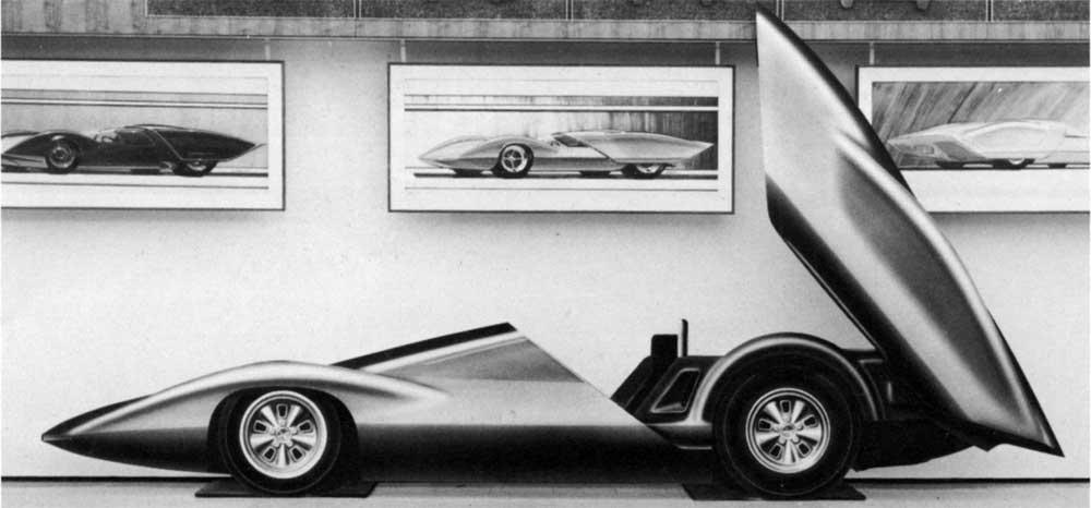 Chevrolet Astro 1 Concept de 1967, sketch d'étude.