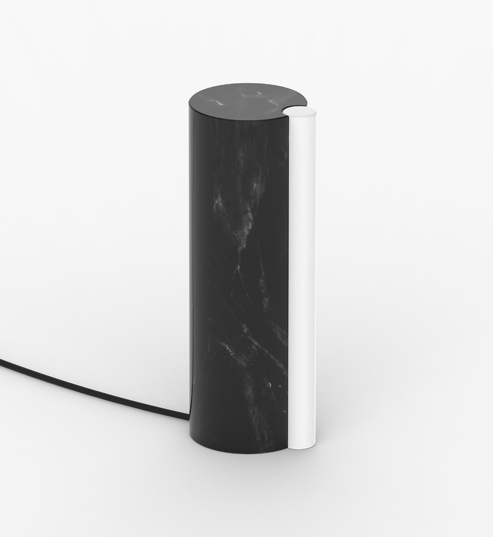 SATELLITE lampe de marbre par Quentin de Coster