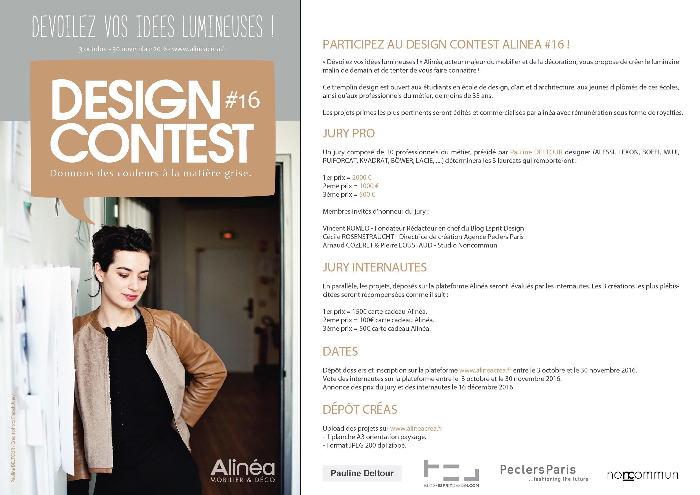 Appel à projets : DESIGN CONTEST ALINEA #16