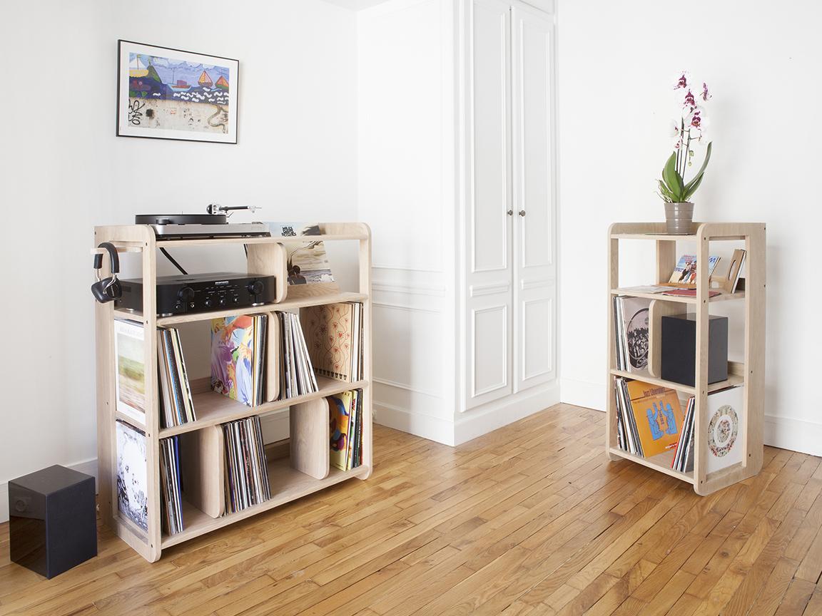 port e le meuble pour vinyles de estis blog esprit design. Black Bedroom Furniture Sets. Home Design Ideas