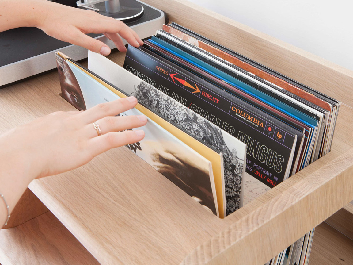 Portée, le meuble pour vinyles de Estis