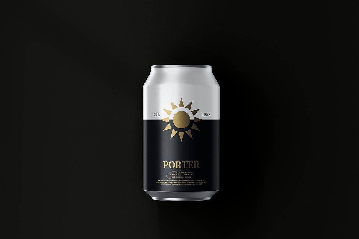 Packaging : Kazakhstan's Premium Beer par Molto Bureau