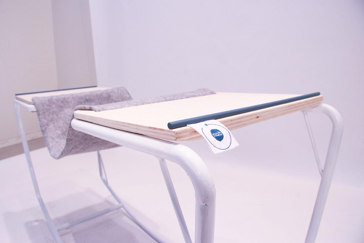 Projet etudiant sway le bureau nomade blog esprit design for Mobilier bureau etudiant