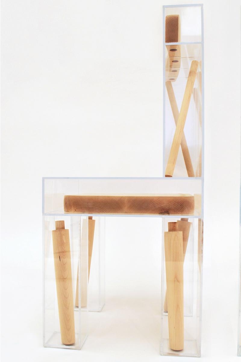 Projet étudiant : Exploded Chair par Joyce Lin