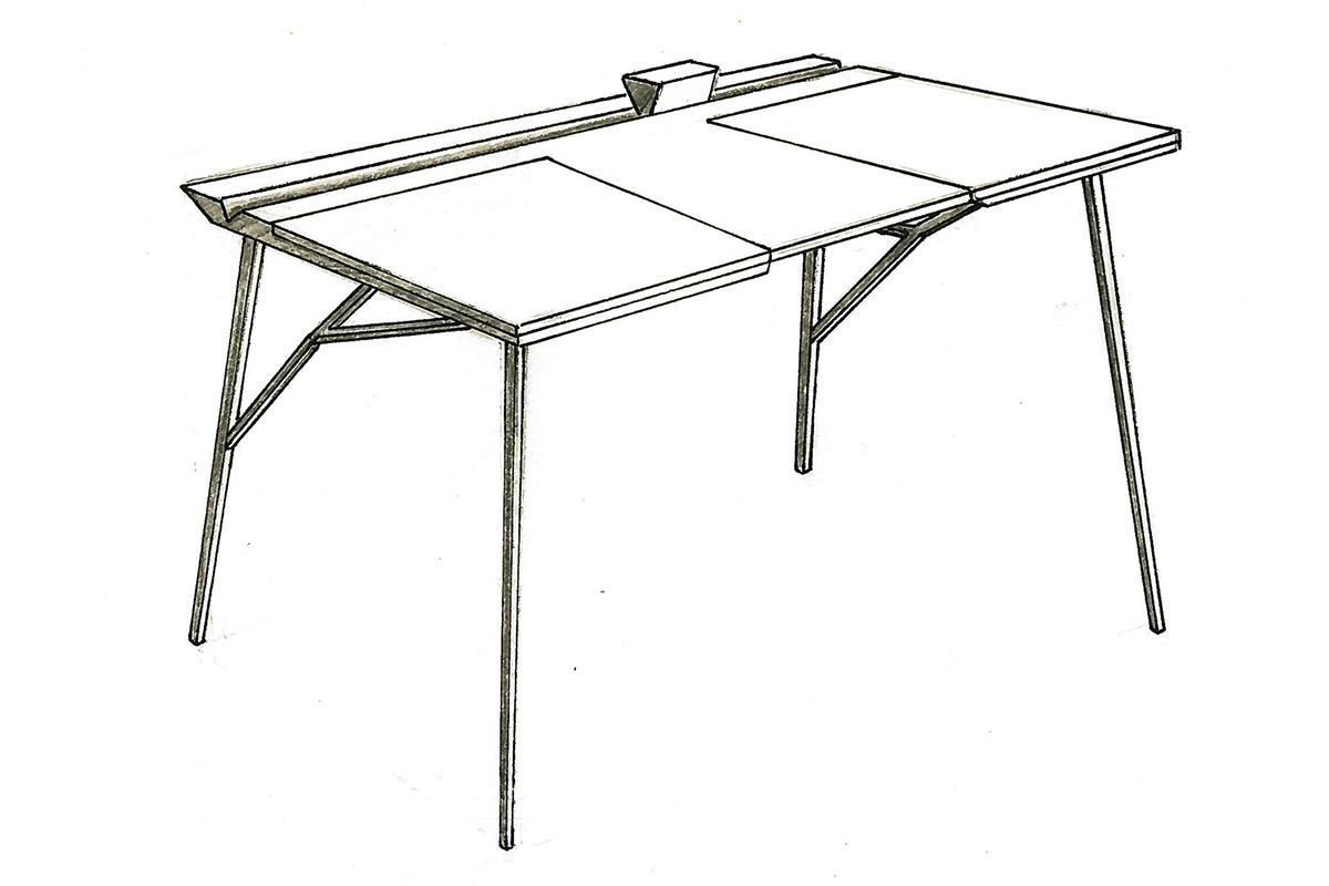 projet tudiant point z ro le bureau de thomas guillermond blog esprit design. Black Bedroom Furniture Sets. Home Design Ideas