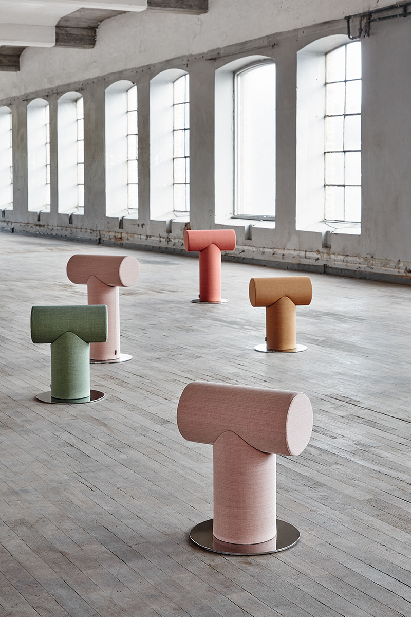 Mr T, le tabouret graphique de Ola Giertz